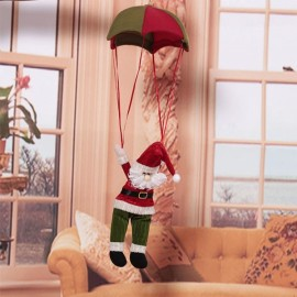 Home Ceiling Decoration Santa Claus Hanging Pendant Red & Green