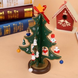 Wooden Tree Decoration Novel Kids Gift Green