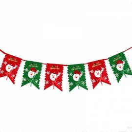 2m Decoration Party Flag Banner Home Party Holiday Ornament Red & Green