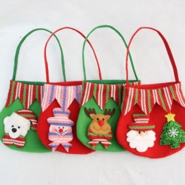 Candy Bag Snowman Gift Bag Fruit Candy Storage Bag Decor Red