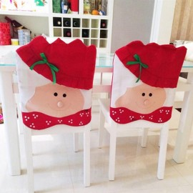 Lovely Chair Covers Mrs Santa Claus Decoration Dining Room Chair Cover Home Party Decor Red