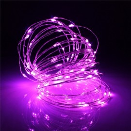 10M 100 LED Copper Wire String Fairy Lights Waterproof US Adapter Pink