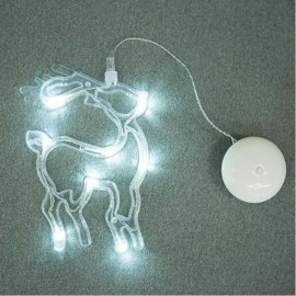Deer LED Christmas Decorative Hanging Light Window Sucker Lamp White