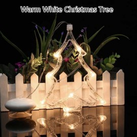 Christmas Tree LED Decorative Hanging Light Window Sucker Lamp Warm White