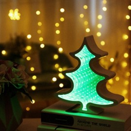 3D LED Tunnel Lamp Infinity Mirror Night Light - Christmas Tree