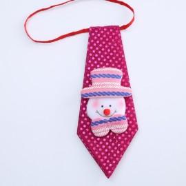 Boys Christmas Necktie Snowman Pattern Tie Xmas Decor Kids Gifts