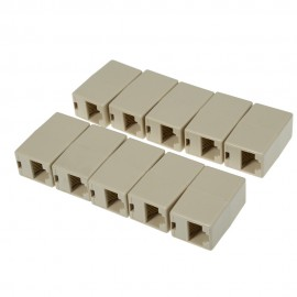 10pcs RJ45 Network Cable Extender Connector Adapter