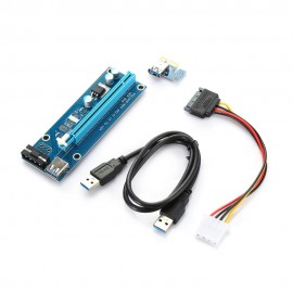PCI - E 1X to 16X Riser Card + USB 3.0 Extender Cable for Bitcoin Lite