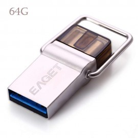 64G 2 in 1 EAGET CU10 USB 3.0 to Type-C U Disk