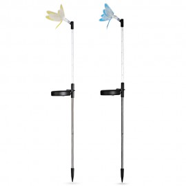 2PCS CIS - 57747 - 2D LED Solar Powered Dragonfly Stake Lights