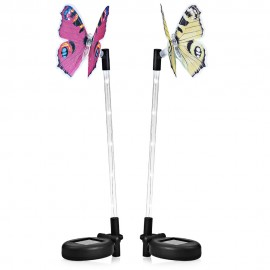 CIS - 57747 - 2B 2PCS LED Solar Powered Butterfly Stake Lights