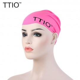TTIO Unisex Fluorescent Swimming Cap Elastic Silicone Hat