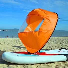 Foldable Durable Downwind Wind Sail Paddle Board for Kayak Sailboat Ca
