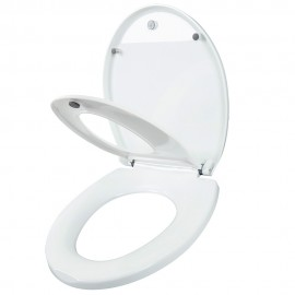 Round Adult Toilet Seat with Child Potty Training Cover