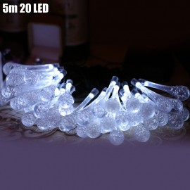 Christmas Tree Decors 5m 20 LED Solar String Light Water Drop Shape La