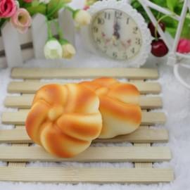 7.5cm Squishy Simulation Bread Fun Toy Soft Decoration Orange