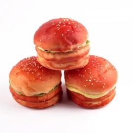 9CM Squishy Simulation Bread Hamburger Fun Toys Decoration Orange Red