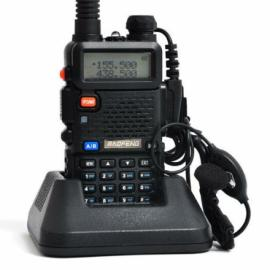 BAOFENG UV-5R 128 Channels Dual Band Walkie Talkie with Flashlight Black