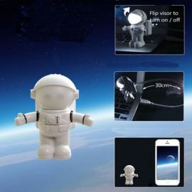 Super Cute Outer Space Astronaut Style USB LED Night Light Lamp White