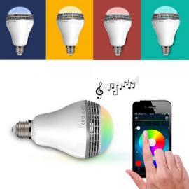Seven Color Light LED Wi-Fi Bluetooth Music Lamp White