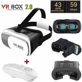 VR BOX VR02 Wearable Virtual Reality Mobile Cinema 3D Glasses + White Bluetooth Controller