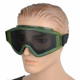 Serviceable Outdoor Protective Plastic Goggles Green & Black