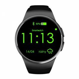 KingWear KW18 Round Dial MTK2502C Heart Rate Sleep Monitor Bluetooth Smart Watch Black