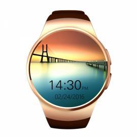 KingWear KW18 Round Dial MTK2502C Heart Rate Sleep Monitor Bluetooth Smart Watch Golden