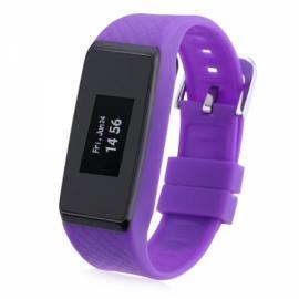INCHOR Wristfit HR IP67 Waterproof Fitness Tracker Heart Rate Sleep Monitor Bluetooth Smart Wristband Purple