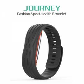 37 Degree Journey Blood Pressure Heart Rate Breath Rate Monitor Pedometer Bluetooth Smart Bracelet Wristband Black