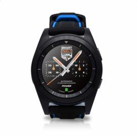 NO.1 G6 Heart Rate Monitor Fitness Tracker Call SMS Reminder Bluetooth 4.0 Smart Watch for Android iOS Silicone Band Black