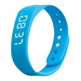 T5 3D Pedometer Sports Tracker Calorie Distance Calculator Smart Bracelet Blue