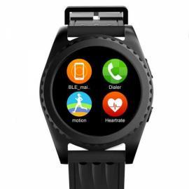 GS3 MTK2502 Pedometer Sleep Monitor Heart Rate Monitor Bluetooth Smart Watch Black