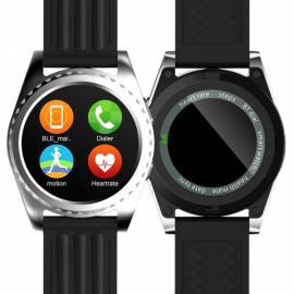 GS3 MTK2502 Pedometer Sleep Monitor Heart Rate Monitor Bluetooth Smart Watch Silver