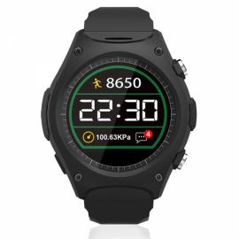 Q8 Outdoor Heart Rate Altitude Thermometer Bluetooth Smart Watch for iOS Android Black