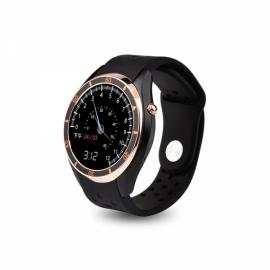 I3 MTK6580 Android 5.1 Bluetooth 3G SIM Card Smart Watch Silicone Band Golden