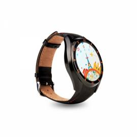 I3 MTK6580 Android 5.1 Bluetooth 3G SIM Card Smart Watch Leather Band Black