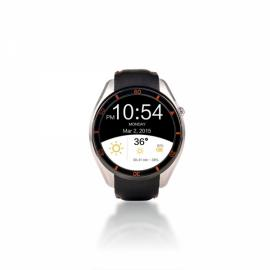 I3 MTK6580 Android 5.1 Bluetooth 3G SIM Card Smart Watch Leather Band Silver