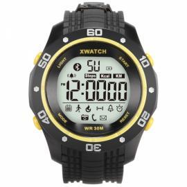 Xwatch 3ATM Waterproof 2-Year Ultra Long Standby Outdoor Sports Pedometer Bluetooth Smart Watch Yellow