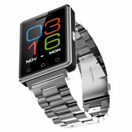 NO.1 G7 Bluetooth Smart Watch Phone Heart Rate Monitor Pedometer for Android iOS Stainless Steel Band Silver