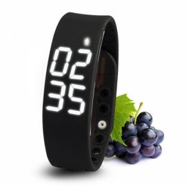 W2 USB Multifuntional Smart Wristband with Timer/Temperature/3D Pedometer/Sleep Monitor/Calorie Functions Black