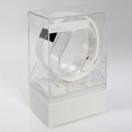 Digicare ERI LED Real Time Display Update Waterproof Bluetooth Wrist Watch Wireless Smart Bracelet White