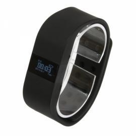 DiGiCare ERI LED Real Time Display Update Waterproof Bluetooth Wrist Watch Wireless Smart Bracelet Black