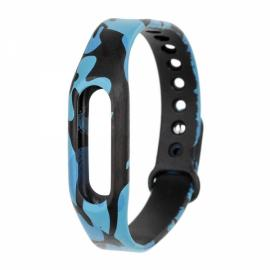 Camouflage Style TPU Band Watch Strap for Xiaomi Miband / 1S Blue Camouflage