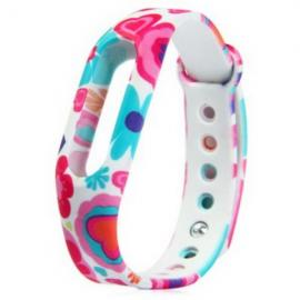 Flower Style Watch Strap TPU Band for Xiaomi Miband Colorful