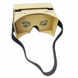 DIY Cardboard Magnetic Sensor Virtual Reality VR Glasses with Head Strap for 4-6