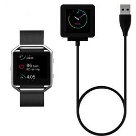 USB Charger Cable Battery Charging Dock Cradle for Fitbit Blaze Smart Watch Black