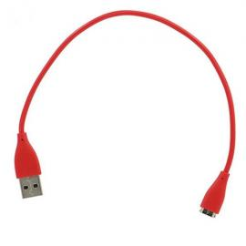 USB Charging Cable for Fitbit Charge HR Smart Wristband Red