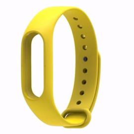 Smart Replacement Silicone Wrist Strap Wristband Bracelet for XIAOMI MI Band 2 Yellow