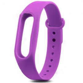 Smart Replacement Silicone Wrist Strap Wristband Bracelet for XIAOMI MI Band 2 Purple